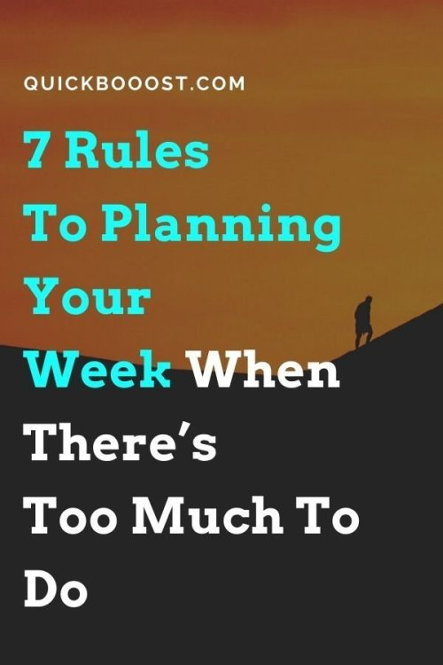 When you're busy, productivity is paramount. Learn how to do your planning for the week and work on what matters most.