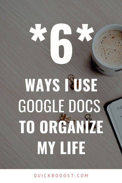 When it comes to life organization, Google Docs is a must. Here's how I use Google Docs for organization and productivity.