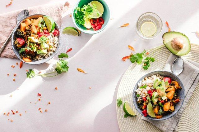 Your plate is full. Full of metaphorical salads and vegetables sitting on a white table.