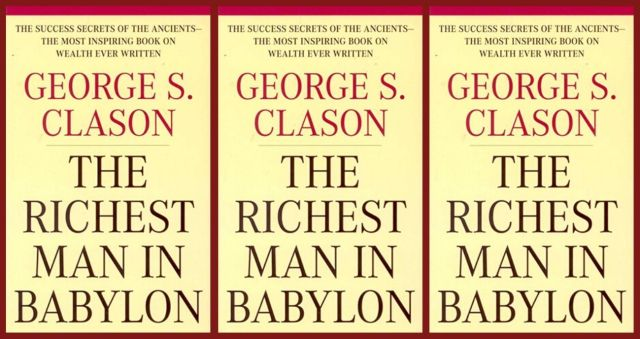 A copy of the book, The Richest Man in Babylon.