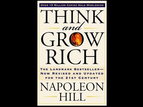 A copy of the book, Think and Grow Rich.