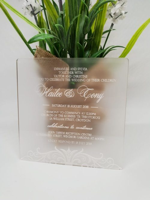 Formal Swirl Invitation
