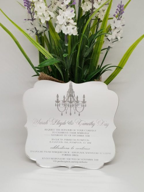 Fancy Chandelier Invitation