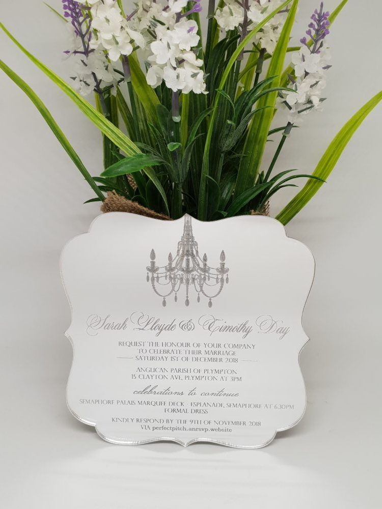 Fancy Chandelier Invitation