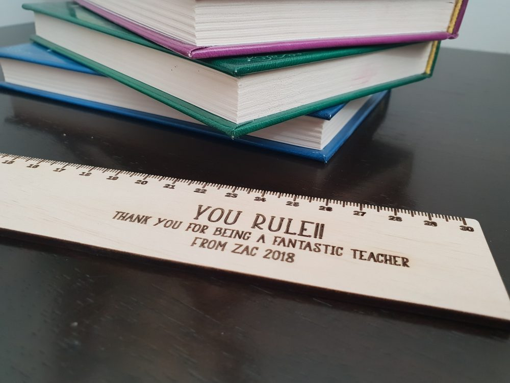 Wooden Ruler Teacher Gift Large