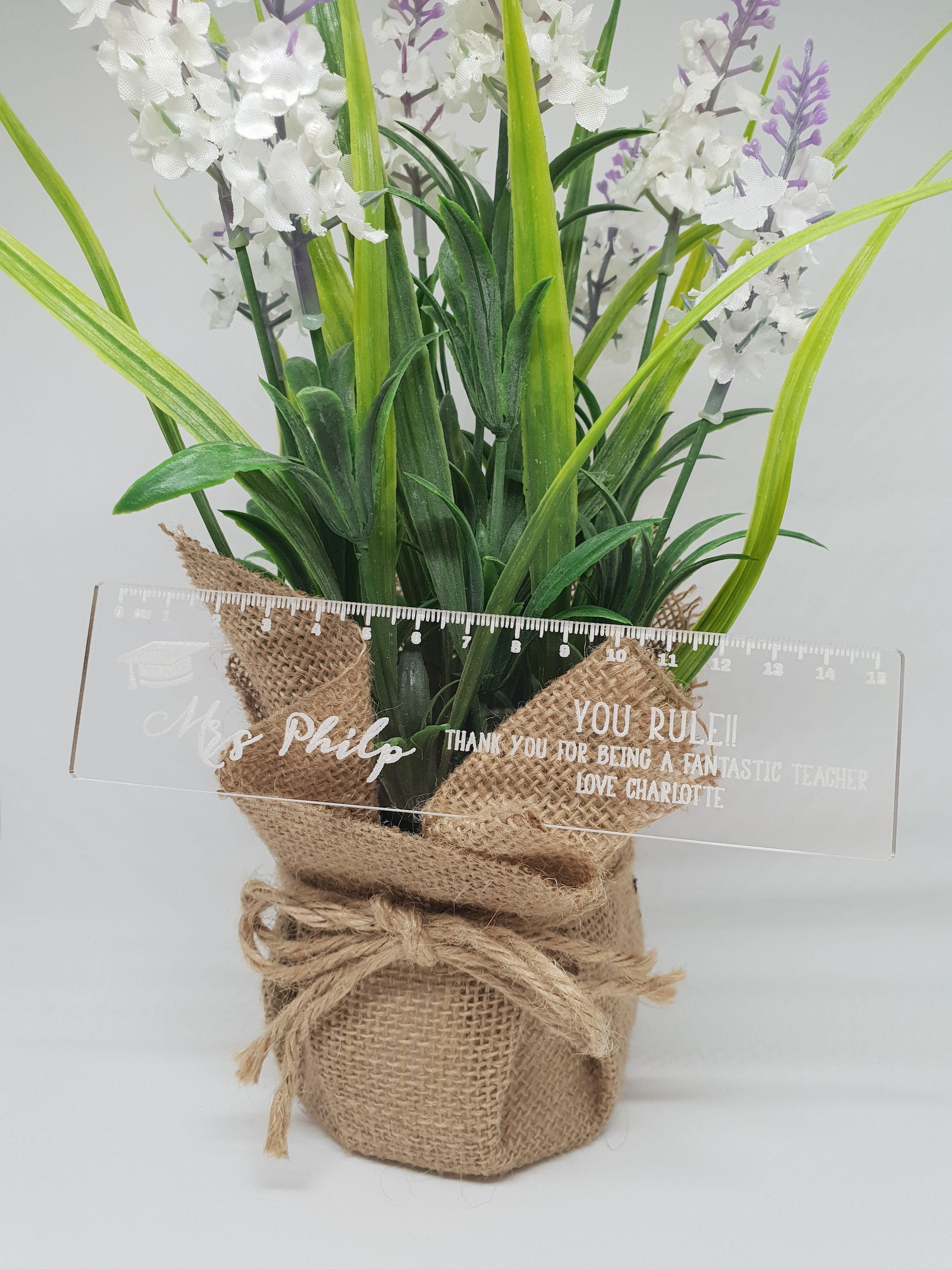 Clear Ruler Teacher Gift