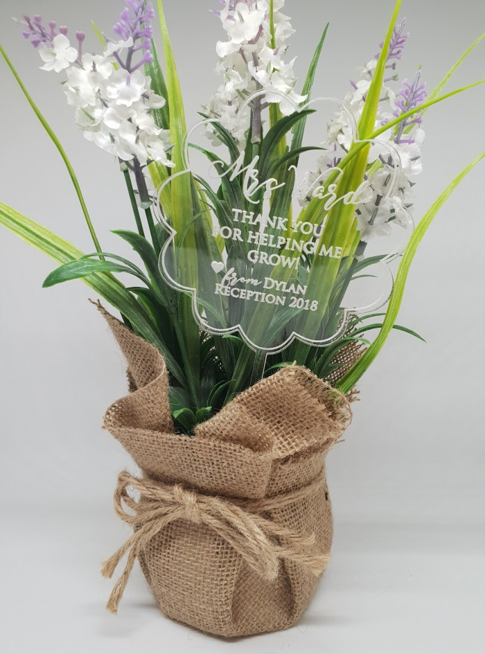 Clear Acrylic Flower Teacher Gift
