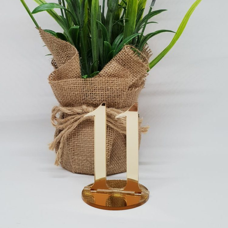 Gold Small Table Numbers