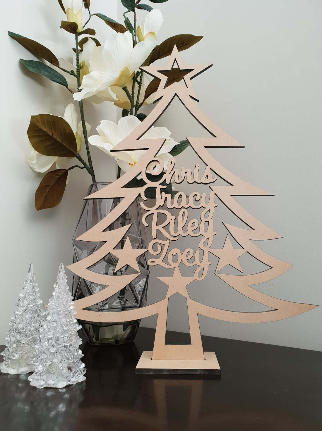 MDF Wooden Christmas Tree Personalised