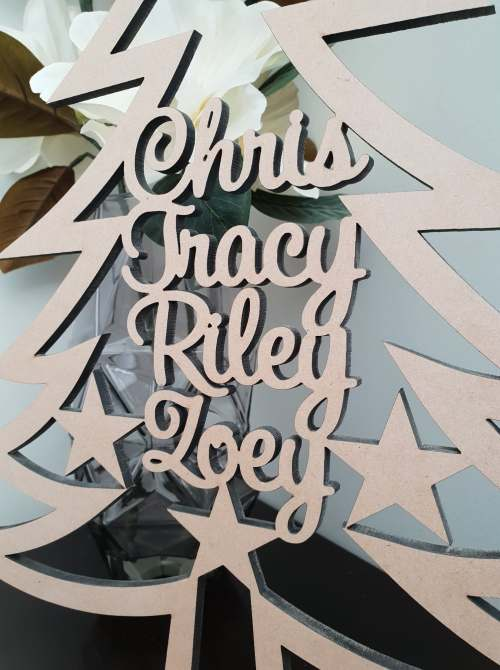 MDF Personalised Christmas Tree