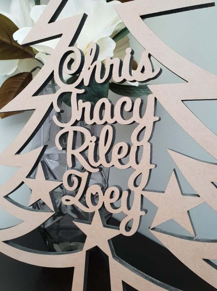 MDF Personalised Christmas Tree