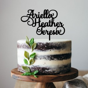 Three Names Cake Topper
