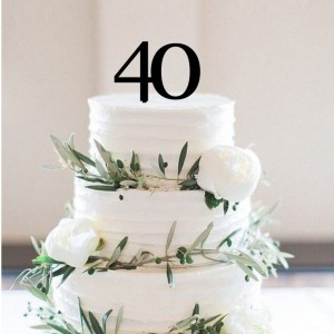 Quick Creations Cake Topper - 40