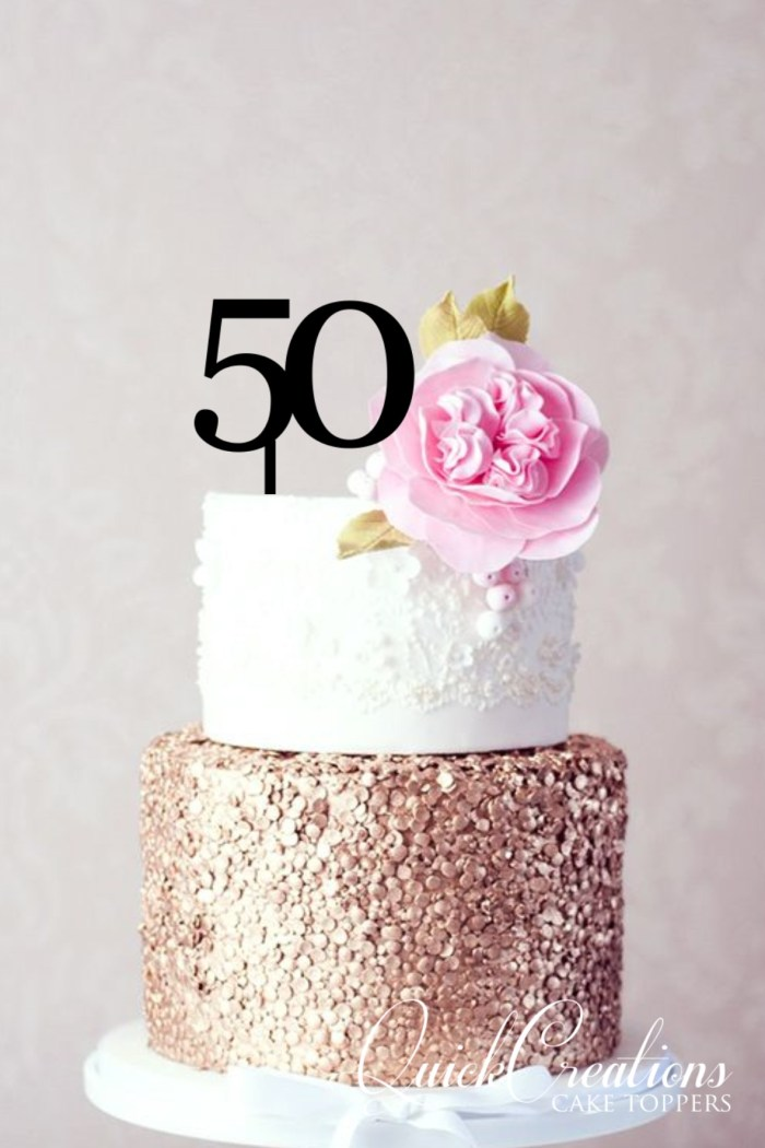 Quick Creations Cake Topper - 50