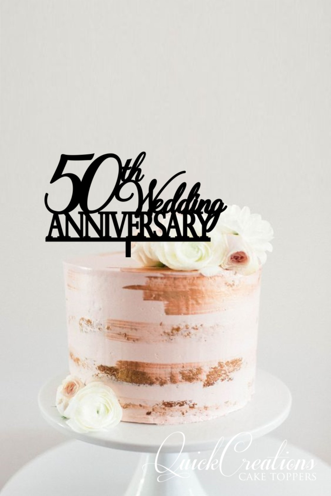 Quick Creations Cake Topper - 50th Wedding Anniversary