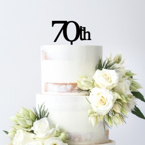 Quick Creations Cake Topper - 70th