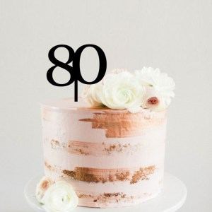 Quick Creations Cake Topper - 80