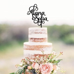 Two Names Cake Topper