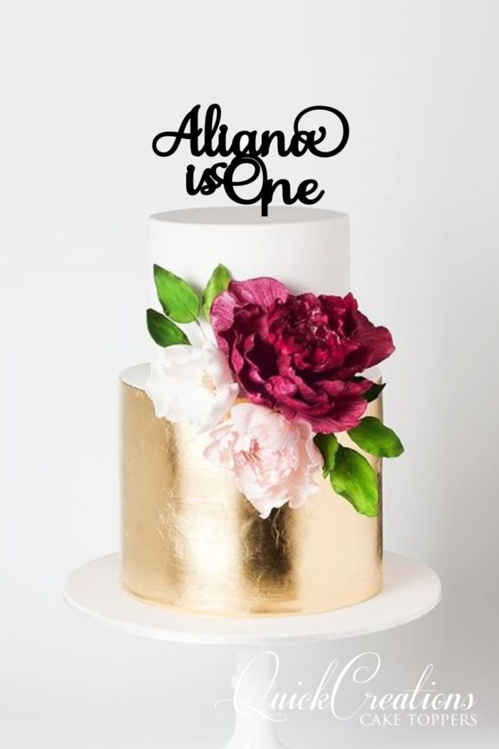Quick Creations Cake Topper - Aliana is One
