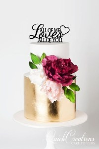 Quick Creations Cake Topper - All of Me Loves All of You