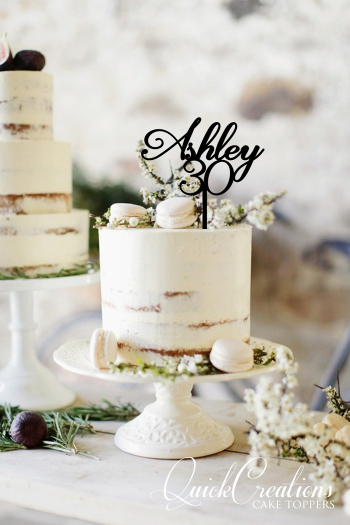 Quick Creations Cake Topper - Ashley 30