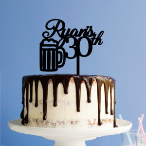 Quick Creations Cake Topper - Beer Ryan's 30