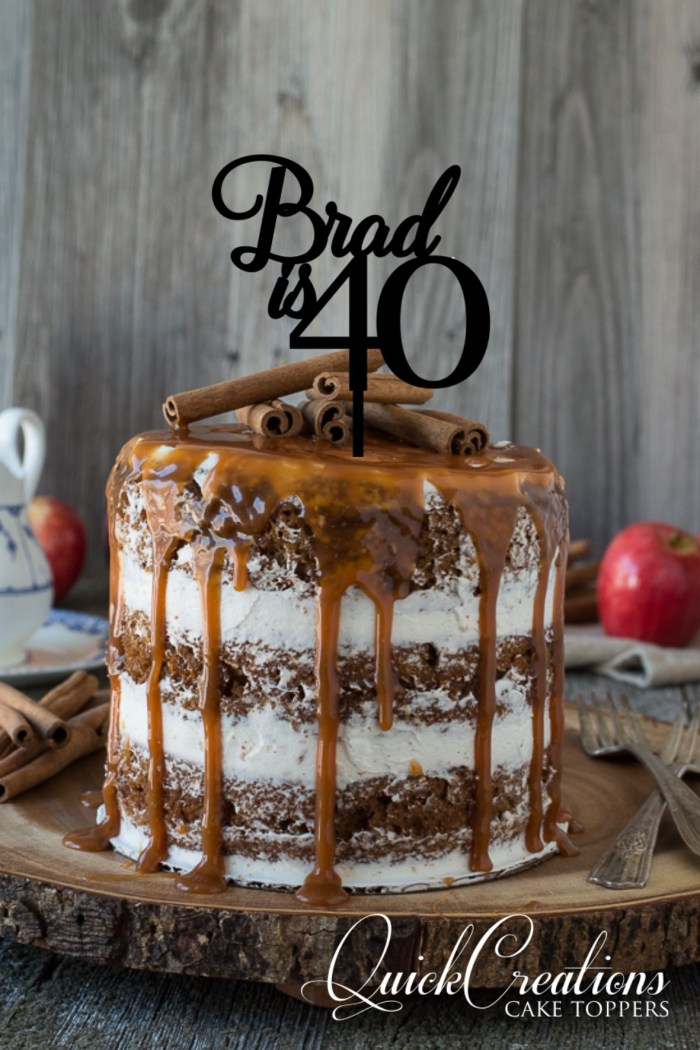 Quick Creations Cake Topper - Brad is 40