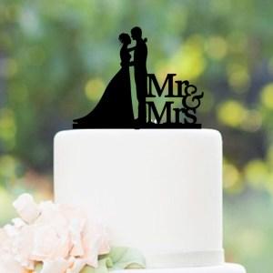 Quick Creations Cake Topper - Bride & Groom Mr & Mrs v2