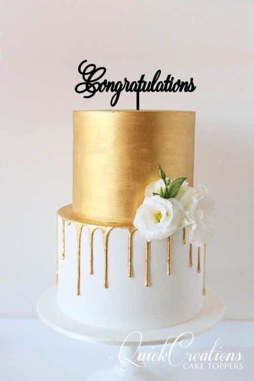 Quick Creations Cake Topper - Congratulations