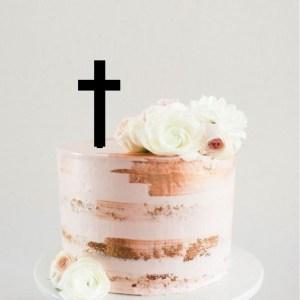 Simple Cross Cake Topper