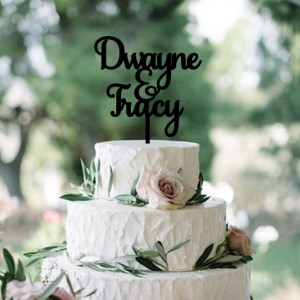 Quick Creations Cake Topper - Dwane & Tracey