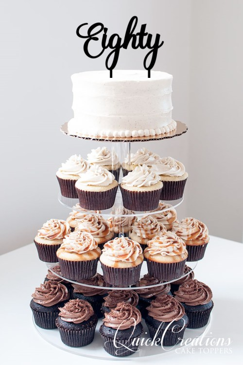 Quick Creations Cake Topper - Eighty