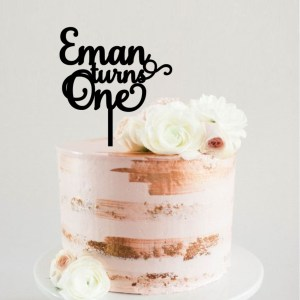 Quick Creations Cake Topper - Eman turns One