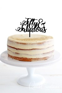 Quick Creations Cake Topper - Fifty & Fabulous