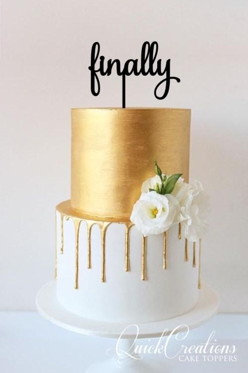 Quick Creations Cake Topper - Finally v2