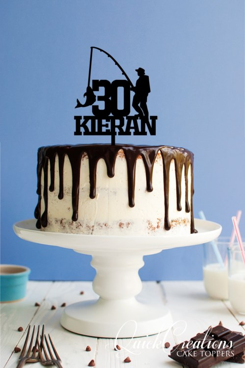 Quick Creations Cake Topper - Fisherman 30 Kieran