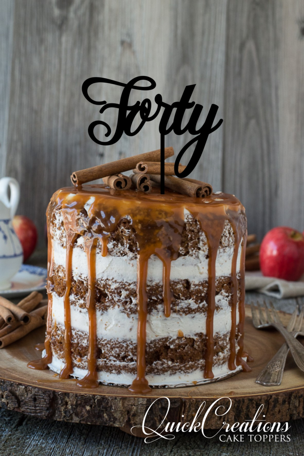Quick Creations Cake Topper - Forty v2