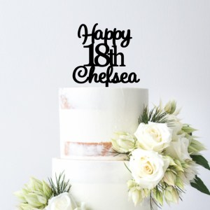 Quick Creations Cake Topper - Happy 18th Chelsea