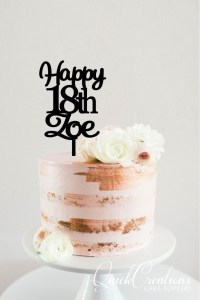 Quick Creations Cake Topper - Happy 18th Zoe