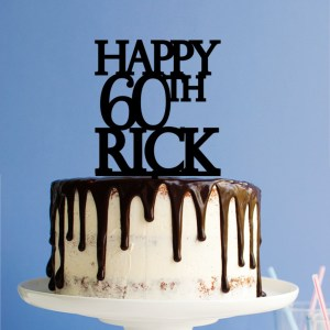 Quick Creations Cake Topper - Happy 60th Rick