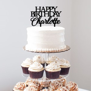 Quick Creations Cake Topper - Happy Birthday Charlotte