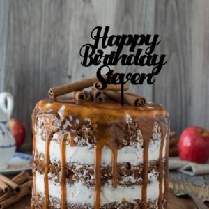 Quick Creations Cake Topper - Happy Birthday Steven