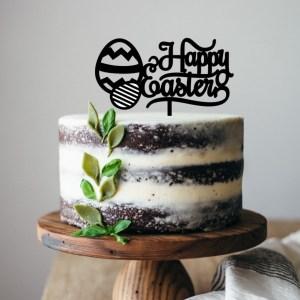Happy Easter Eggs Cake Topper