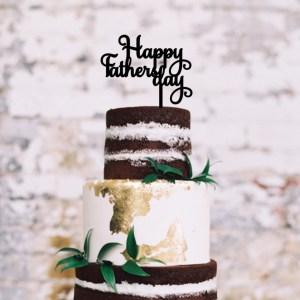 Happy Fathers Day Script Cake Topper