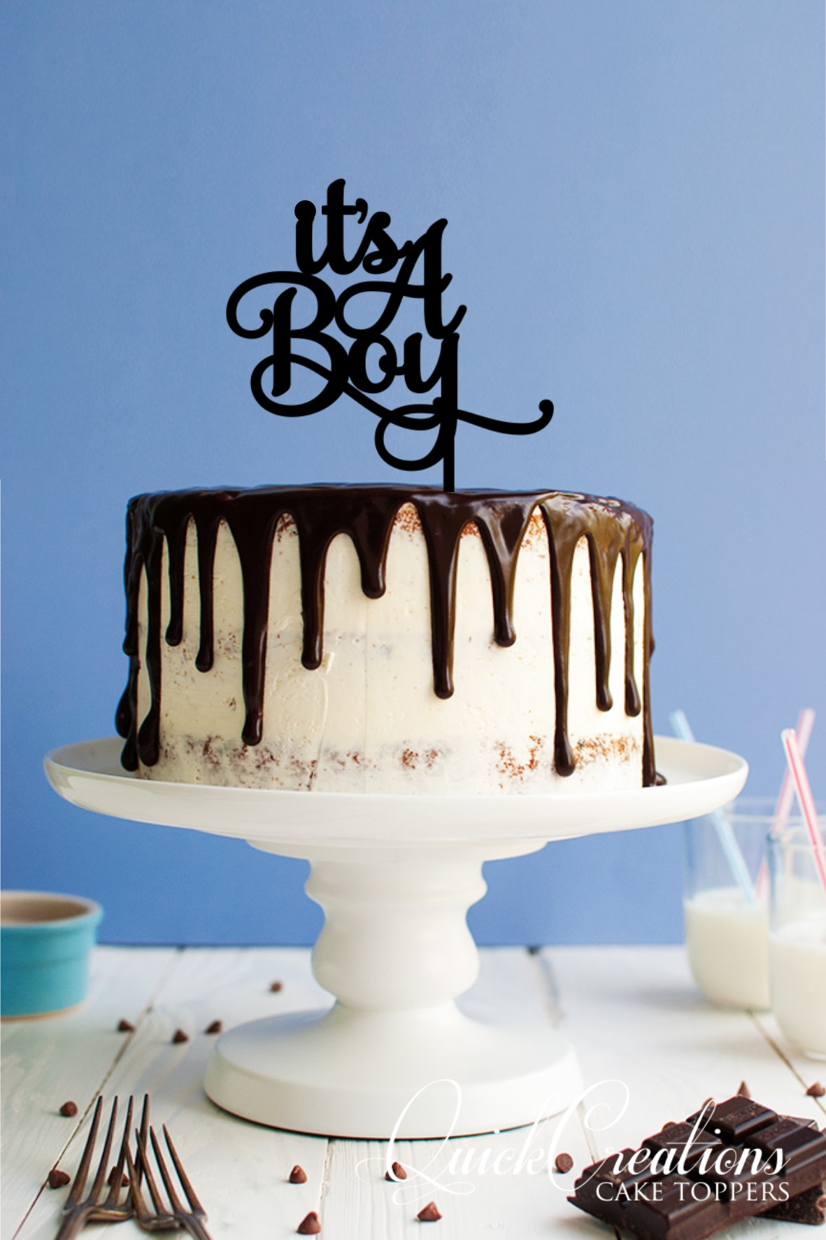 Quick Creations Cake Topper - Its a Boy