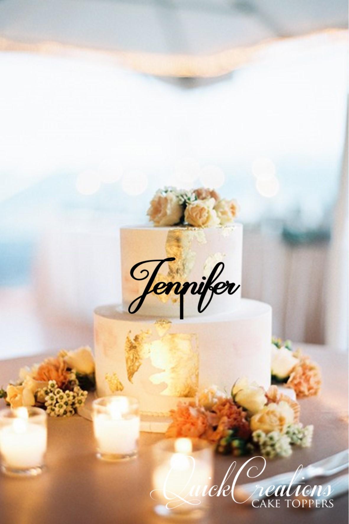 Quick Creations Cake Topper - Jennifer