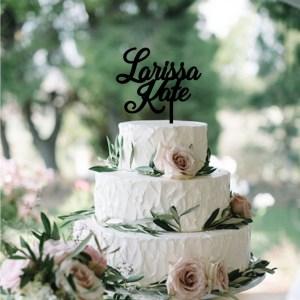 Two Names Cake Topper v2