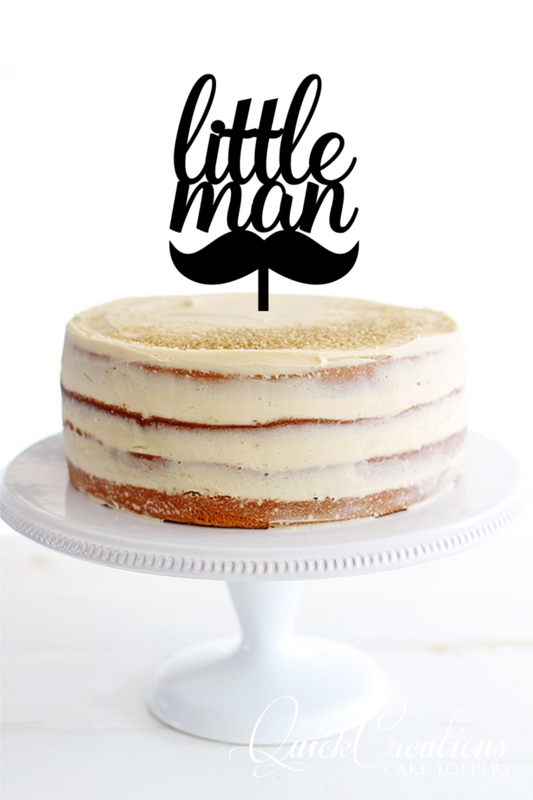Quick Creations Cake Topper - Little Man Mustache