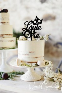 Quick Creations Cake Topper - Louie is One Crown