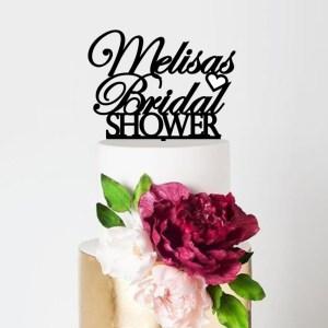 Personalised Bridal Shower Cake Topper